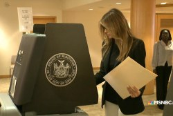 Melania Trump votes in New York primary