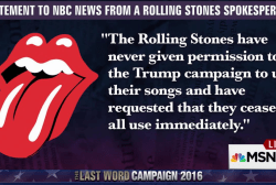 Rolling Stones to Trump: Don't play our music