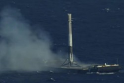 SpaceX rocket's successful launch and landing