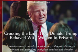 NYT reports on how Trump treats women in...