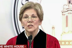 Warren knocks Trump in graduation speech