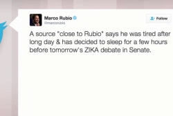 Marco Rubio tweets the press