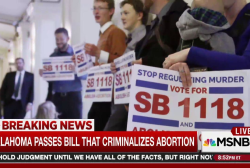 Oklahoma leg. passes bill to outlaw abortion