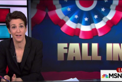 Rift worries Democrats as GOP falls in line