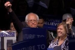 Watch Moment Bernie Sanders Learned He Won...