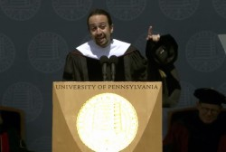 Lin-Manuel Miranda speaks to UPenn Grads