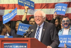 Sanders agrees with rally-goer's profanity