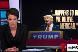 Trump unambiguously attacks judge's ethnicity