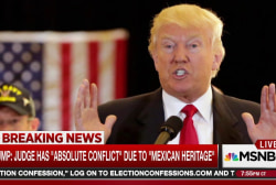 Trump: Judge biased due to 'Mexican heritage'