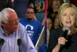 Sanders continues race as Clinton nears ...