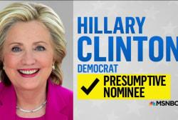 NBC News declares Clinton presumptive nominee