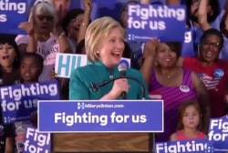 Clinton Hails 'Historic, Unprecedented...