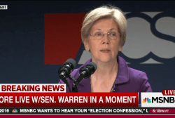 Warren on Trump: 'a total disgrace'