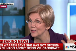 Warren: No VP conversations with Clinton