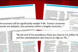Clinton shifts to target Trump on economics