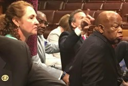 John Lewis and House Dems hold sit in
