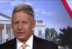 Gary Johnson: 'How about three names'