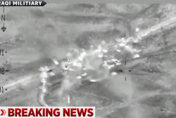 Coalition airstrikes hit alleged ISIS convoy
