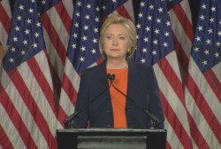 Clinton blasts Trump's 'thin skin'