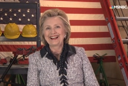Clinton talks guns, Trump and potential VP...