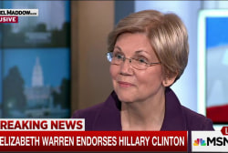 Warren endorses Hillary Clinton for president