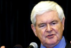 Gingrich at the top of Trump VP shortlist