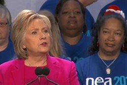 Clinton to educators: 'Help is on the way'