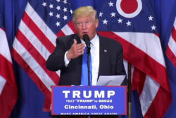 Trump counters Clinton for 17 seconds at...