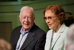 Jimmy Carter, wife celebrate 70th anniversary