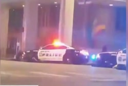 Video shows scene of shooting in Dallas