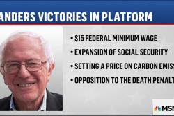 Sanders scores big wins with DNC platform