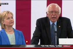 Clinton and Sanders unify against Trump