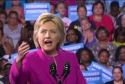 Clinton's campaign is based off 'love and...