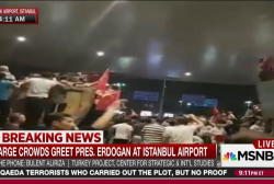 Erdoğan returns to Istanbul amid coup attempt