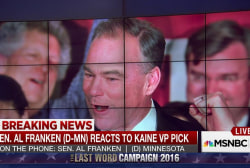 Sen. Al Franken on Clinton VP Pick Tim Kaine