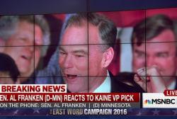 Sen. Al Franken on Clinton VP Pick Tim Kaine