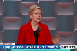 Warren has stern message for Republicans