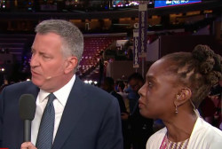 De Blasio on importance of neighborhood...