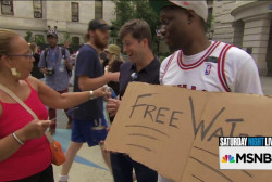 Will DNC protesters drink free Trump water?