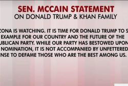 McCain, Gold Star Family on Khan comments