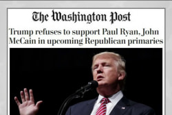 Trump refuses to back Paul Ryan in primary...