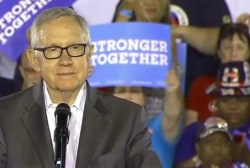 Harry Reid fires up crowd in Las Vegas