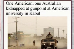 Two university professors kidnapped in Kabul