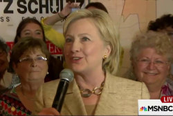 Clinton poll lead puts her in good company