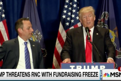 Trump threatens to stop fundraising for RNC