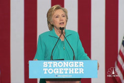 Clinton reacts to 'paranoid fever dream'