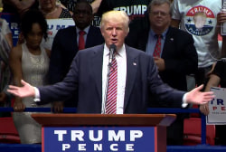 Trump bashes Clinton over emails