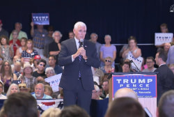 Military mom booed at Pence rally