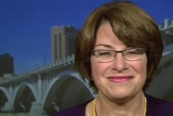 Sen. Klobuchar on Clinton 'laying low'...