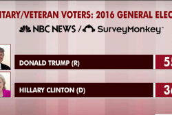 Trump leads big with military voters: poll
